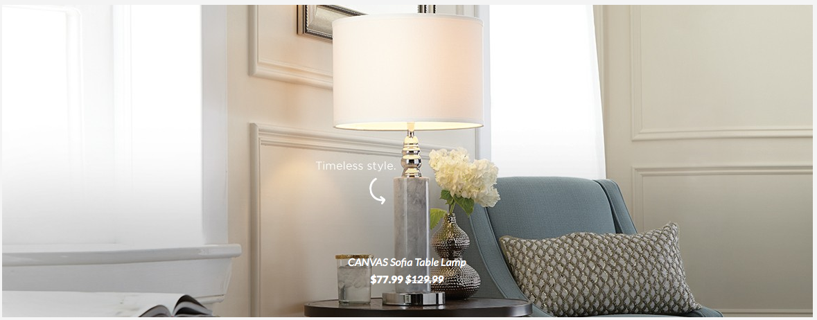 Canvas Sofia Table Lamp Canadian Tire