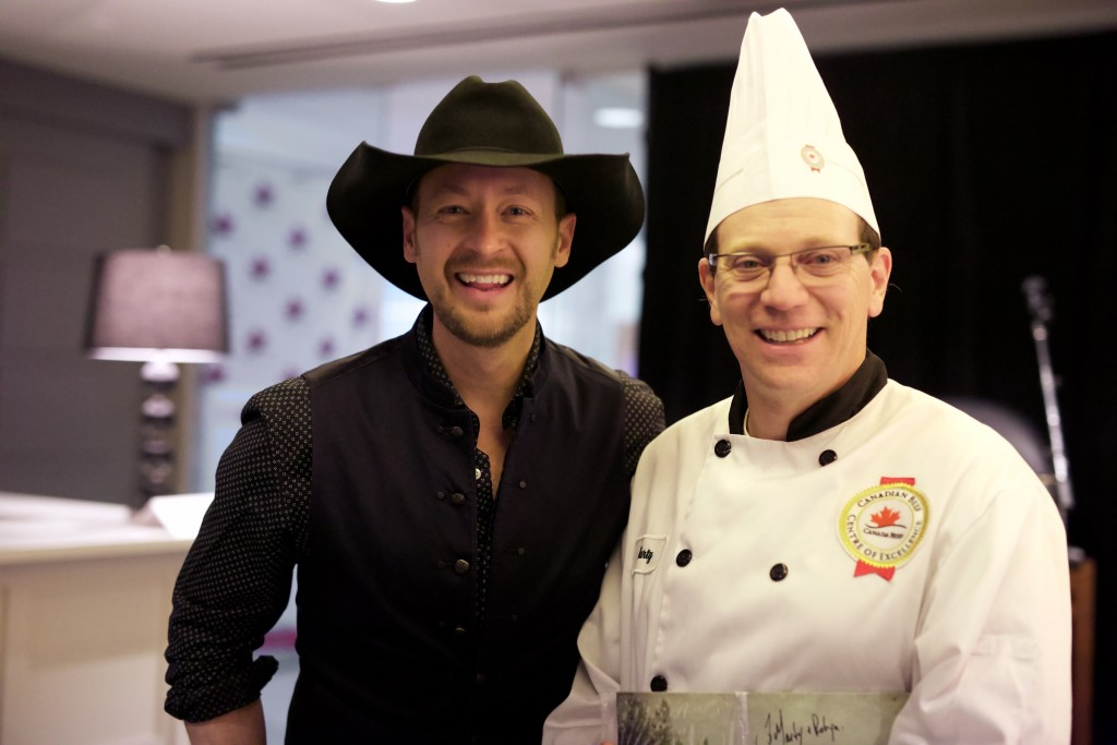 Chef Marty with Jason Brandt #makeitCDNbeef
