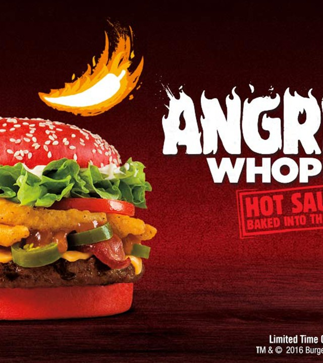Angriest  Whopper at Burger King