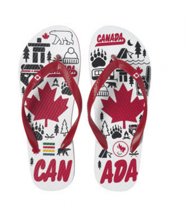 Hudson's Bay Company's National Flip-Flop Day Para Flip-flops