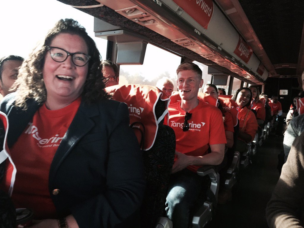 Tangerine Employees on Road to a BrightWayForward Bus