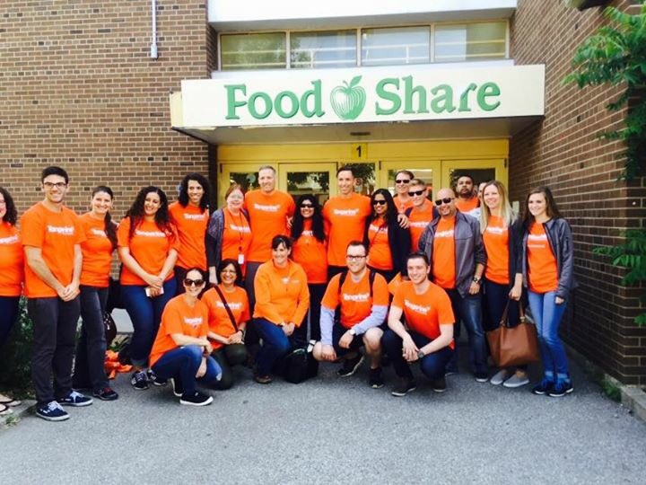 Team Tangerine at FoodshareTO on Road to a BrightWayFoward tour