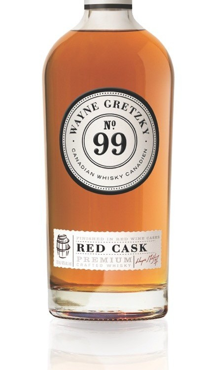 Wayne Gretzky No. 99 'Red Cask' Whisky available for sale in Ontario, Alberta and Manitoba. (CNW Group/Gretzky Estates Winery & Distillery)