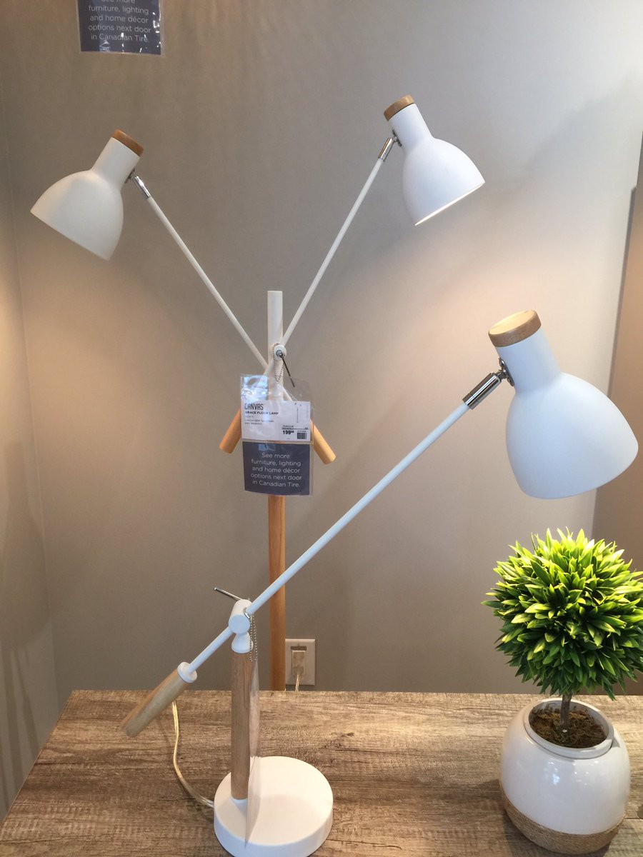 And Since I Am A Matchy Type Of Girl You Know Would Get The CANVAS Grace Wooden 2 Light Floor Lamp As Well