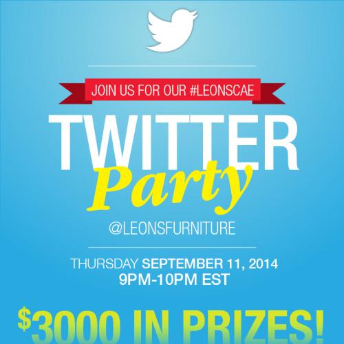 Leon's Twitter Party! #LeonsCAE