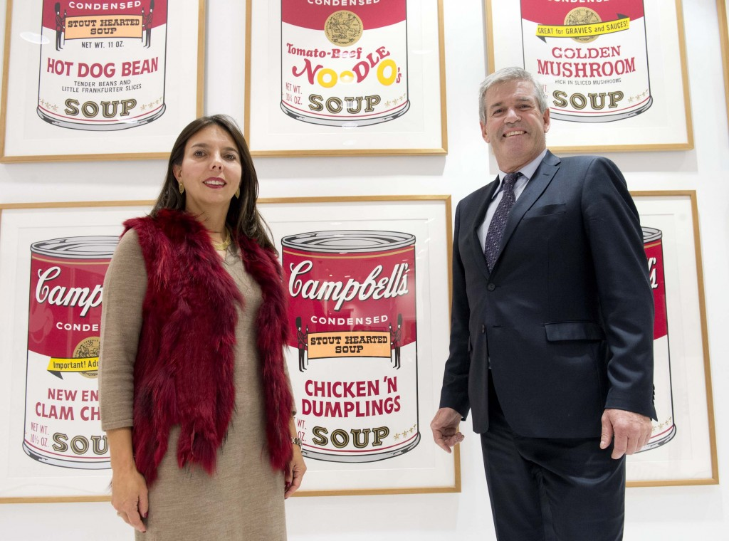 Campbell Canada president Ana Dominguez and Arthur Potts, Parliamentary Assistant to the Minister of Agriculture, Food and Rural Affairs celebrate Campbell Canada's 85th anniversary of providing Canadians with great tasting authentic foods including Campbell's® Soups, Goldfish®, Pepperidge Farm® crackers and cookies, Plum® Organics, as well as others products.