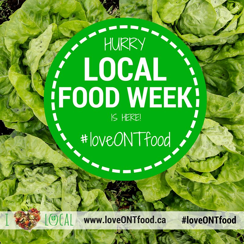 Post your cool finds during Local Food Week on social media with #LoveONTFood.