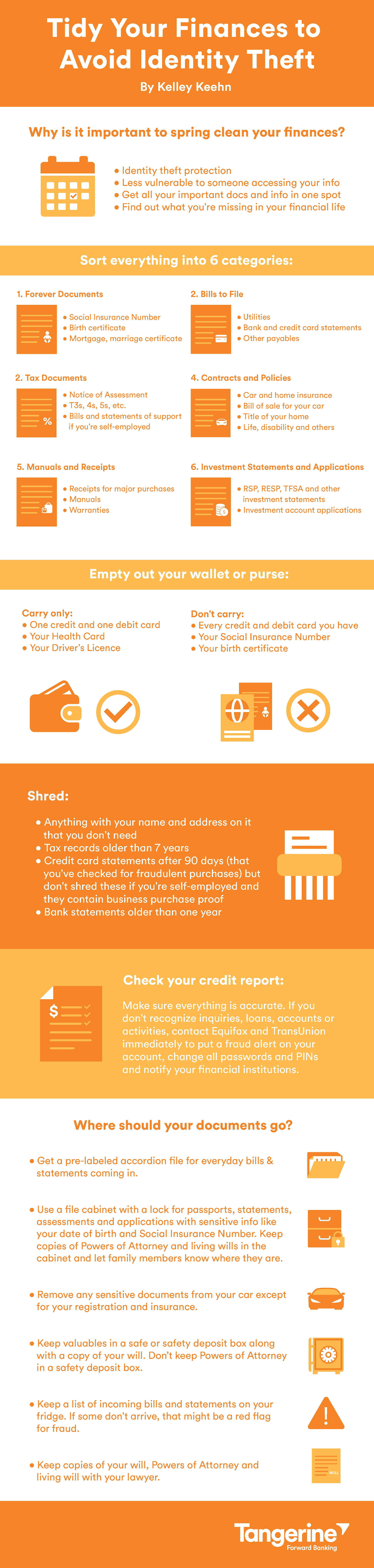 Tidy Your Finances to Avoid Identity Theft Infographic