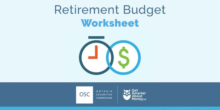 Retirement Budget Worksheet